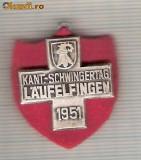 CIA 205 Medalie  Schwing LAUFELFINGEN 1951 (lupte -Wrestling )(Elvetia) -dimensiuni, circa 26X26 milimetri