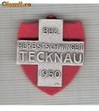 CIA 201 Medalie  Schwing TECKNAU 1950 (lupte -Wrestling )(Elvetia) -dimensiuni, circa 26X26 milimetri