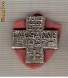 CIA 211 Medalie  FETE FED. DE LUTTE LAUSANNE 1937 (lupte -Wrestling )(Elvetia) -dimensiuni, circa 26X26 milimetri