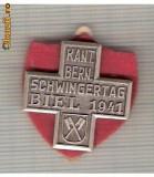 CIA 181 Medalie Schwingertag  Biel 1941(lupte -Wrestling)(Elvetia) -dimensiuni, circa 26X26 milimetri