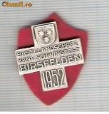 CIA 208 Medalie  Schwingfest  BIRSFELDEN 1952 (lupte -Wrestling )(Elvetia) -dimensiuni, circa 25X25 milimetri