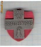 CIA 209 Medalie  (insemnele Schwing)  PRATTELN 1944 (lupte -Wrestling )(Elvetia) -dimensiuni, circa 26X26 milimetri