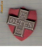 CIA 185 Medalie E.T.V. OLTEN (Schwingertag ?) 1918(lupte -Wrestling ?)(Elvetia) -dimensiuni, circa 26X26 milimetri