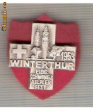 CIA 194 Medalie  Schwing Winterthur 1953 (lupte -Wrestling )(Elvetia) -dimensiuni, circa 26X26 milimetri