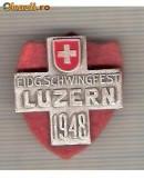 CIA 199 Medalie  Schwingfest LUZERN 1948 (lupte -Wrestling )(Elvetia) -dimensiuni, circa 26X26 milimetri