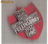 CIA 212 Medalie  Schwingfest FULLINSDORF 1937 (lupte -Wrestling )(Elvetia) -dimensiuni, circa 26X26 milimetri