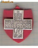 CIA 195 Medalie  Schwingfest Niederdorf 1935 (lupte -Wrestling )(Elvetia) -dimensiuni, circa 26X26 milimetri