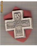 CIA 218 Medalie  Schwingfest Rupperswil 1937 (lupte -Wrestling )(Elvetia) -dimensiuni, circa 26X26 milimetri