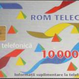 CARTELA TELEFON ROMTELECOM DE 10000 LEI DIN 1995