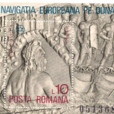 Colita-Navigatia Europeana pe Dunare - Timbre Romania