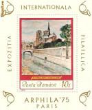colita-EXPOZITIA INTERNATIONALA FILATELICA,,ARPHILA'75'' PARIS