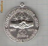 CIA 247 Medalie sportiva germana(prietenia) -dimensiuni, 38X35 milimetri
