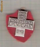 CIA 233 Medalie  Schwingertag Munchenstein 1941 (lupte -Wrestling )(Elvetia) -dimensiuni, circa 26X26 milimetri