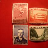 Serie - A 5a Comem.a Regelui Alex.I- 1939- Yugoslavia, 4 val.