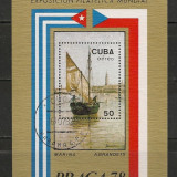 Cuba.1978 Expozitia filatelica PRAGA:Pictura-Bl. RM.803 - Timbre straine