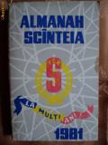 ALMANAH SCANTEIA - ANUL 1981