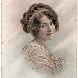 T FOTO 36 Romantica -Tanara -circulata 1914 -adresata lui I.Nedelcu, Plutonier Graniceri, Turtucaia, Port(Cadrilater) -Sarsaila - Fotografie