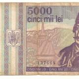 LL bancnota Romania 5000 lei 1993 - Bancnota romaneasca