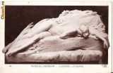 T FOTO 79 Romantica -Tanara , nud, statuie -antebelica -sepia