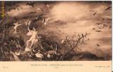 """T FOTO 61 Romantica -Tanara nud - Muzeul din Lion -Breughel(Johann) Scoala Flamanda ,,L`Air"""" (Aerul) -sepia"""
