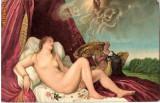 T FOTO 83 Romantica -Danae -Tiziano -Wien -tanara nud -superba -interesanta pentru reproducerea intr-un tablou