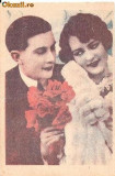 "T FOTO 97 Romantica -Indragostiti -Amintire 11 Octombrie 1947, D-rei Elisaveta Enache, Berceni -stampila Regimentul 4 Rosiori ,,Regina Maria"""