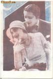 T FOTO 89 Romantica -Indragostiti -foto ce stabilea regina balului -1940- Veta Enache , Berceni -stampila Frontul Plugarilor -parafa Teleajen