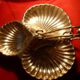 Tavita de servit - sub forma de scoici - ANGLIA-metal argintat