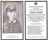 U FOTO 100 Necrolog -Militar german Obergefreiter Josef Dunstl (aviatie?), cazut in razboi, 29 ian 1943, la varsta de 31 de ani -crucea cu zvastica