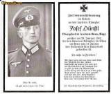U FOTO 94 Necrolog -Militar german Obergefreiter Josef Dunstl (aviatie?), cazut in razboi, 29 ian 1943, la varsta de 31 de ani -crucea cu zvastica