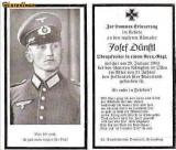 U FOTO 92 Necrolog -Militar german Obergefreiter Josef Dunstl (aviatie?), cazut in razboi, 29 ian 1943, la varsta de 31 de ani -crucea cu zvastica