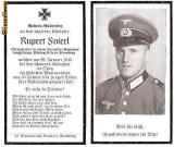 U FOTO 87 Necrolog -Militar german Obergefreiter Rupert Soierl (aviatie?), cazut in razboi, 29 ian 1943, la varsta de 33 de ani -crucea cu zvastica