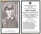 U FOTO 95 Necrolog -Militar german Obergefreiter Josef Dunstl (aviatie?), cazut in razboi, 29 ian 1943, la varsta de 31 de ani -crucea cu zvastica