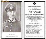 U FOTO 93 Necrolog -Militar german Obergefreiter Josef Dunstl (aviatie?), cazut in razboi, 29 ian 1943, la varsta de 31 de ani -crucea cu zvastica