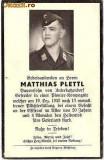 V FOTO 11 Necrolog -Militar german Gefreiter Matthias Plettl , cazut in razboi,