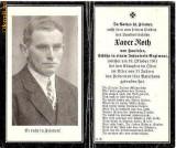 U FOTO 84 Necrolog -Militar german Xaver Roth, cazut in razboi la 19 oct 1941, la varsta de 31 de ani-sus are crucea germana cu zvastica