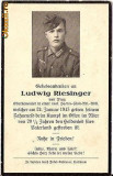 V FOTO 06 Necrolog -Militar german Oberkanonier Ludwig Riesinger, cazut in razboi, 24 ian 1943, la varsta de 20 de ani si jumatate