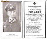 U FOTO 98 Necrolog -Militar german Obergefreiter Josef Dunstl (aviatie?), cazut in razboi, 29 ian 1943, la varsta de 31 de ani -crucea cu zvastica