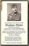 V FOTO 05 Necrolog -Militar german Obergefreiter Mathias Binder, cazut in razboi, 17 sept 1943, la varsta de 32 de ani si jumatate