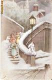 V FOTO 38 Buon Natale, Salvator mundi- felicitare -circulata 1950 -adresata lui Pavelescu Ioan, str.Maria Hagi Moscu, Bucuresti