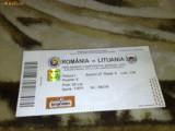 Bilet meci de fotbal - Romania - Lituania -- 06 09 2008 - Preliminarii campionatul mondial 2010