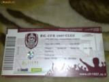 Bilet meci de fotbal - Divizia A - FC CFR Cluj - Universitatea Craiova - 28 noiembrie 2009