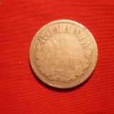 2 LEI 1875, Carol I, argint, cal. mediocra-medie, d=2, 7cm. - Moneda Romania