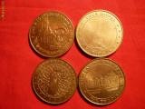 Set 4 Medalii FRANTA din Seria - Monnais de Paris