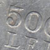 Bnk mnd EROARE batere romania 500 lei 1946 double die - Moneda Romania