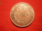 10 FRANCI 1966 FRANTA ,argint ,aproape NC, d=3,7cm.