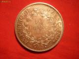 10 FRANCI 1965 FRANTA ,argint ,cal.F.F.Buna ,d=3,7cm.