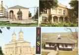 CP196-08 Iasi: Casa Dosoftei;Casa Vasile Pogor; Monumentul Trei Ierarhi; Bojdeuca -carte postala, necirculata -starea care se vede