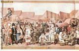 CP197-53 Muzeul Brukenthal Sibiu -Franz Neuhauser -Iarmaroc la Sibiu la 1788-carte postala, necirculata -starea care se vede