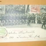 Carte Postala Defilarea Scolii de ofiteri 10 Mai 1899 - Fotografie veche